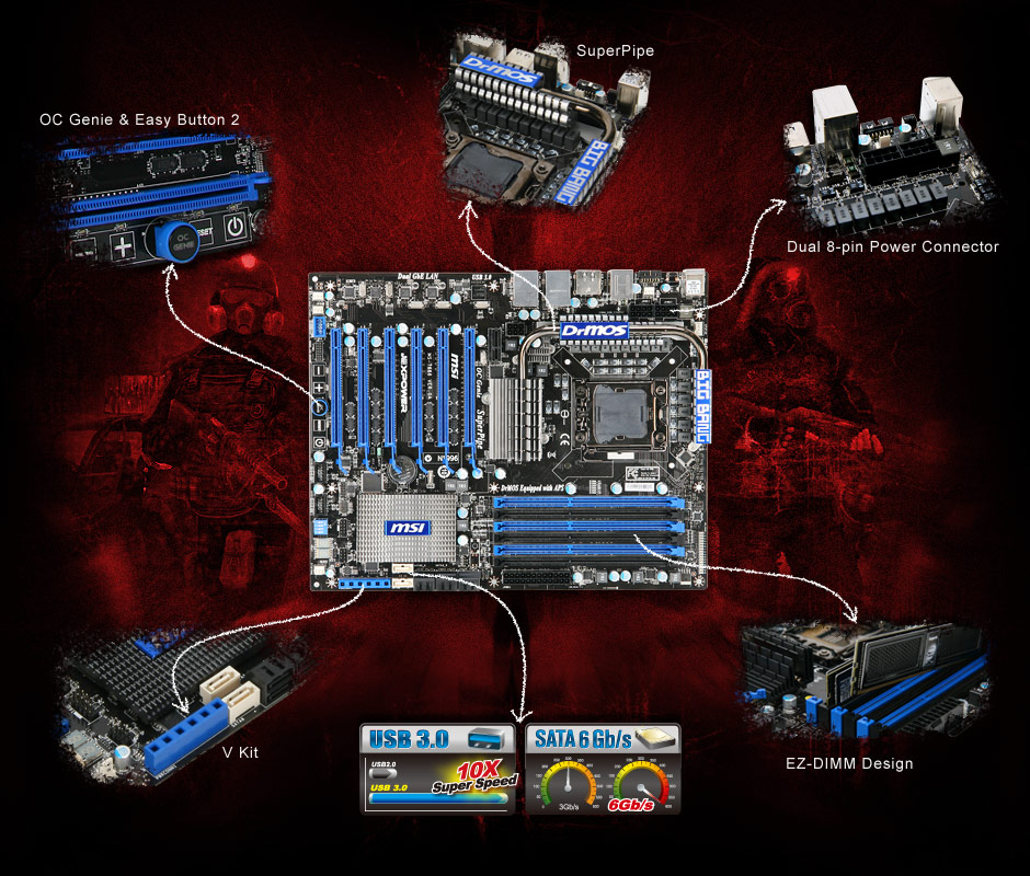 MSI BIG BANG-XPOWER | Msi Big Bang-Xpower Lga 1366 Motherboard