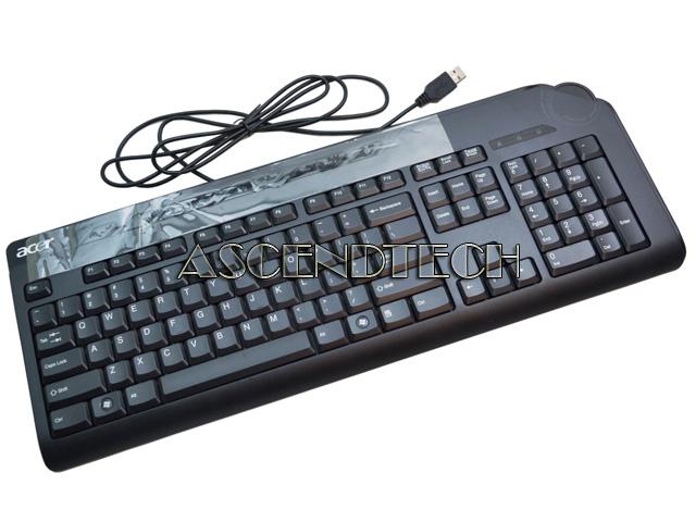 acer black wired usb enhanced multimedia keyboard with volume controls ku 0760 ebay. Black Bedroom Furniture Sets. Home Design Ideas