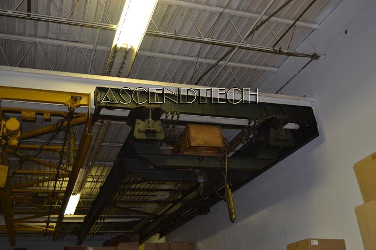 2ton 27ft overhead bridge crane trolley w robbins myers for 2 ton hoist with motorized trolley