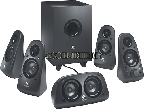 5.1 SPEAKERS W/ SUBWOOFER | Logitech Z506 Surround Sound ...