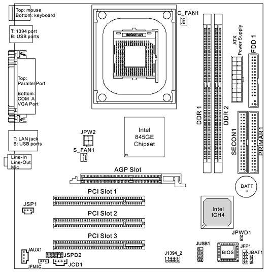 5187 3670 Hp Xenon4 Gl6e S 478 P4 Motherboard