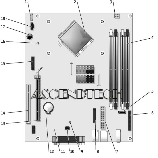 gx620techmb 0kh290 kh290 gx620 dell optiplex gx620 series motherboard dell optiplex gx620 wiring diagram at creativeand.co