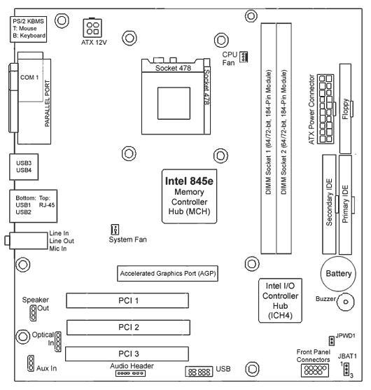 5187 2141 5187 3470 hp xenon3 glae s 478 p4 motherboard. Black Bedroom Furniture Sets. Home Design Ideas