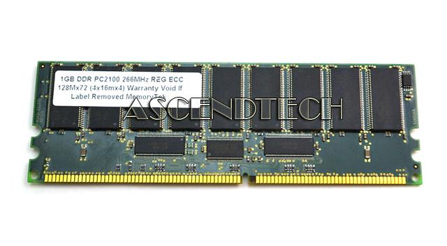 SAMSUNG 1GB 128MX72 PC 2100 REG ECC DDR SDRAM DDR 266MHZ MEMORY CARD