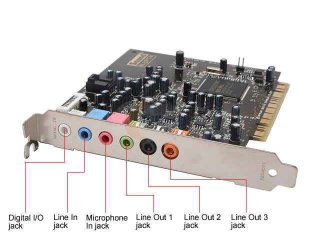 5188-4455 5188-2929   Sound Blaster SB0660 Audigy 4 Sound Card