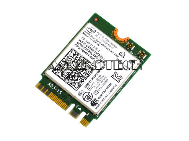 photo regarding Hewlett Packard Printable Cards titled G98682-002 3160NGW Hp 15 X360 784644-005 WiFi Wi-fi Card