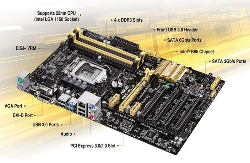 INTEL HASWELL MOTHERBOARD   Asus B85-PLUS B85 DDR3 SATA3