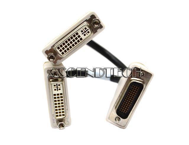 Dell Molex DMS59 Male to Dual DVI Female Y-Splitter Video Adapter 0H9361