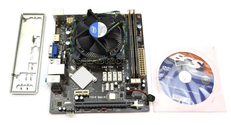 Ecs H61H2-MV Intel i3-3240 8GB Ram Combo