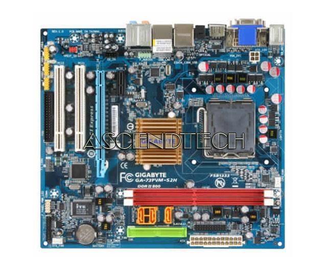 GIGABYTE GA-73PVM-S2H REV.1.0 7100 LGA775 DDR2 MICRO ATX MOTHERBOARD NO I//O USA